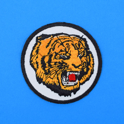 Vintage Round Tiger Patch