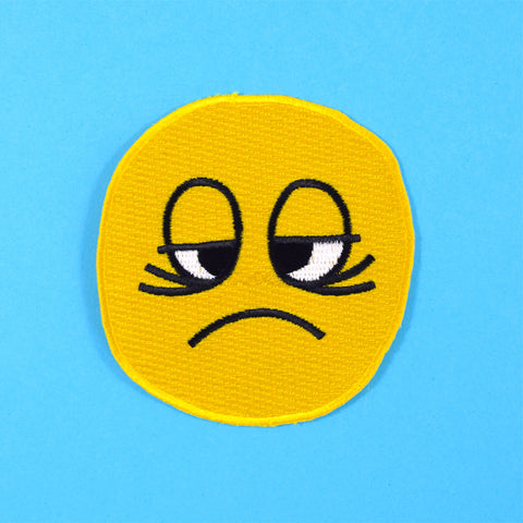 Tired Smiley Stick-On Patch by Will Bryant