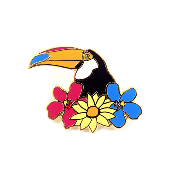 Toucan Pin by Ted Feighan x Society6