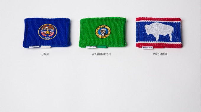 Embroidered Flagship WeaveSleeve Wallet