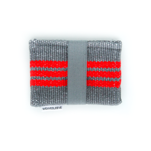 Red Striped Two Pocket Wallet