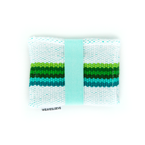 Blue and Green Two Pocket Wallet