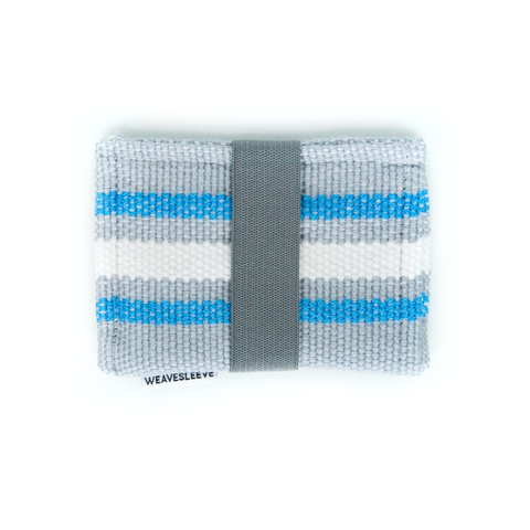 Blue and Grey Two Pocket Wallet