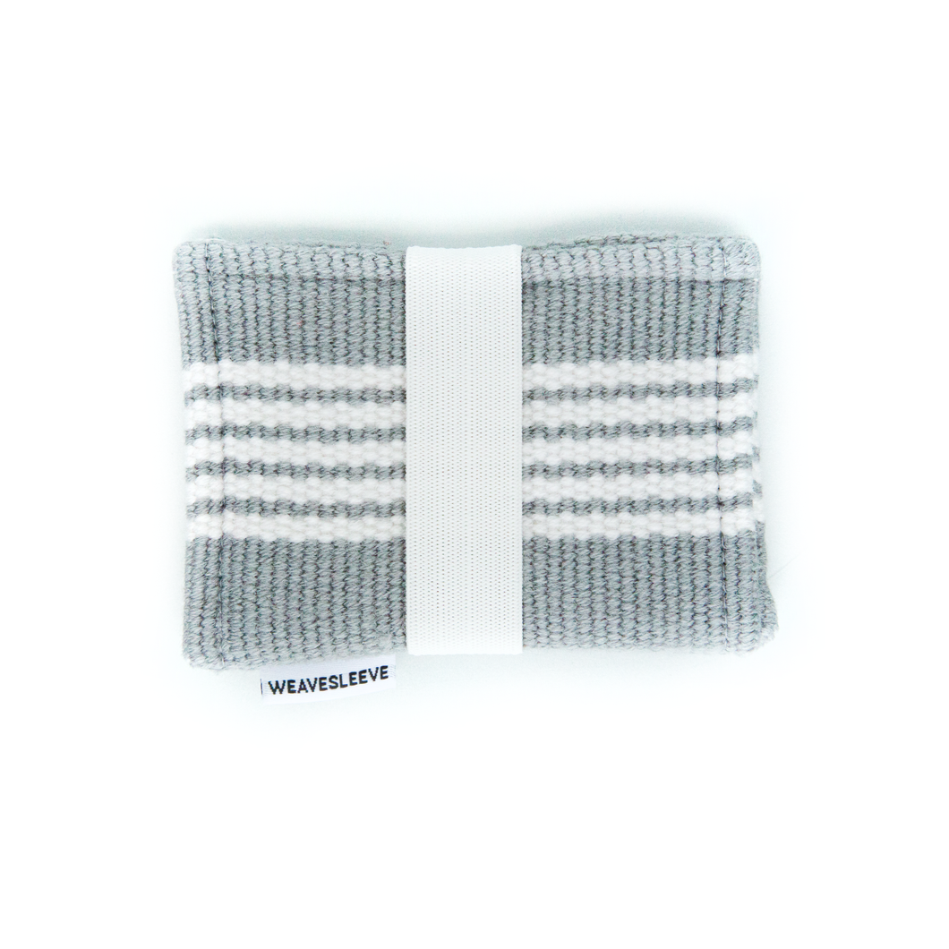 White and Grey Two Pocket Wallet
