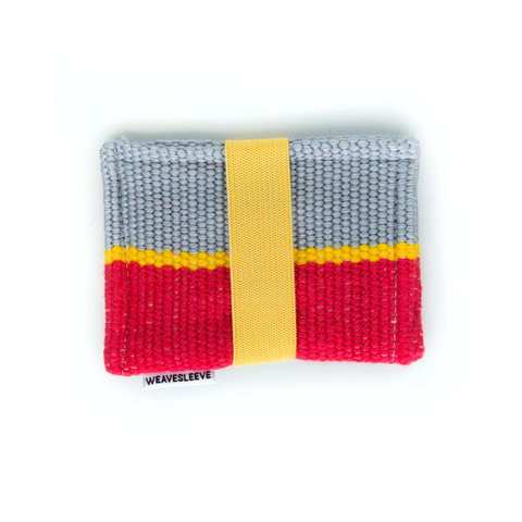 Yellow Striped Two Pocket Wallet