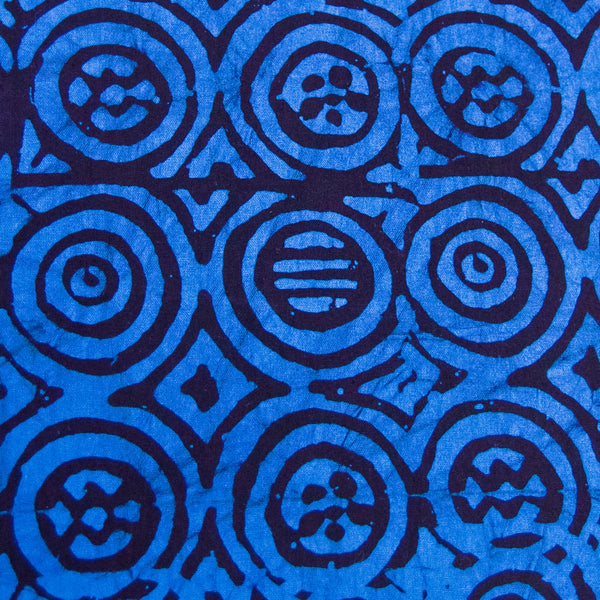 Blue || Dark Brown Batik