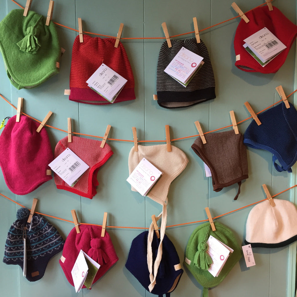 Disana organic wool hats