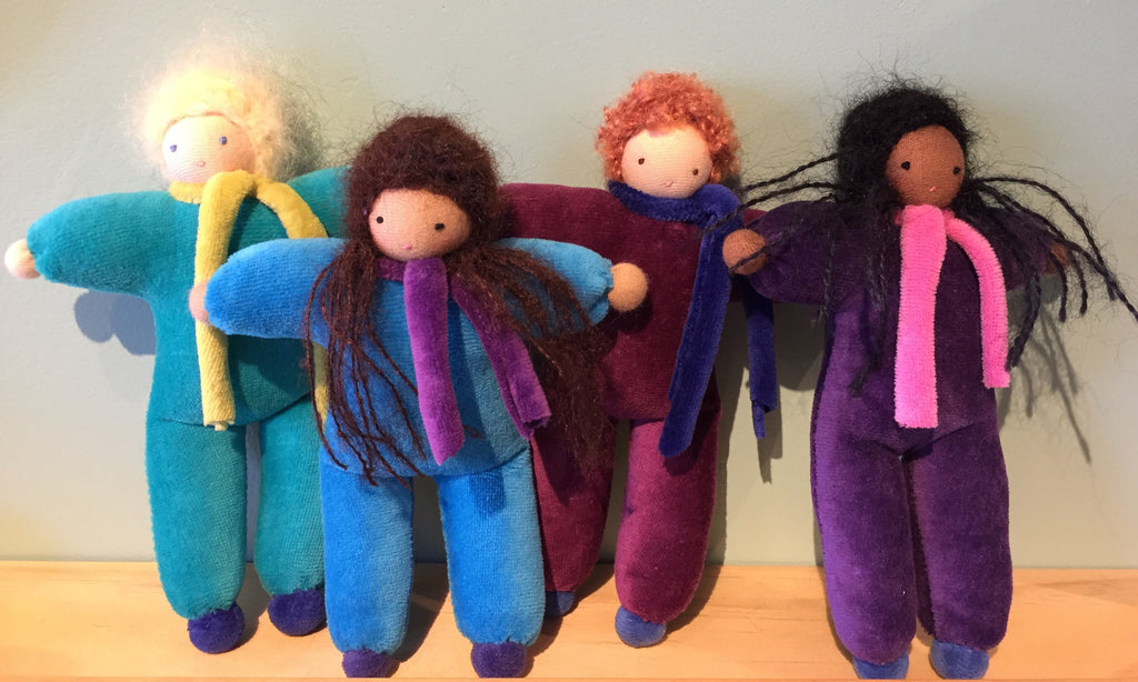 Handmade mini Waldorf dolls