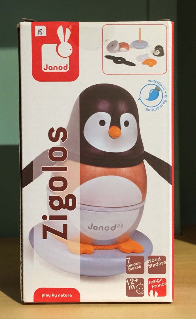 Janod wooden stacking penguin