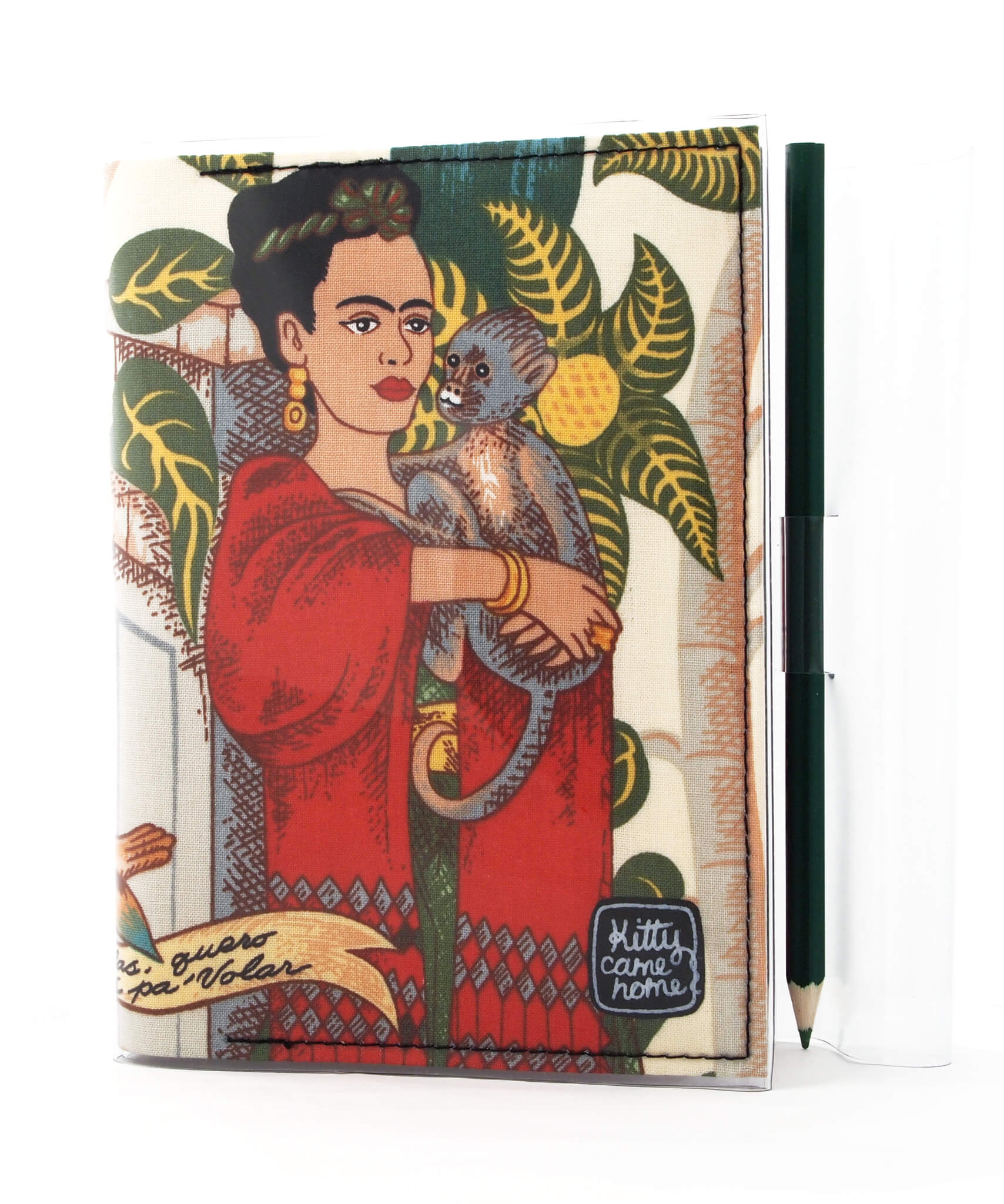 A6 Journal - Frida with monkey