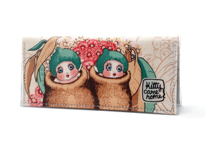 Bi-fold Clutch - May Gibbs gumnut babies - Snugglepot and Cuddlepie
