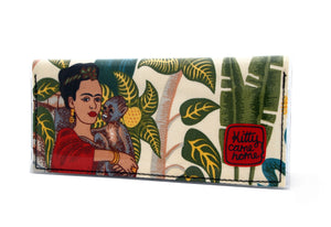 Bi-fold Clutch - Frida with monkey