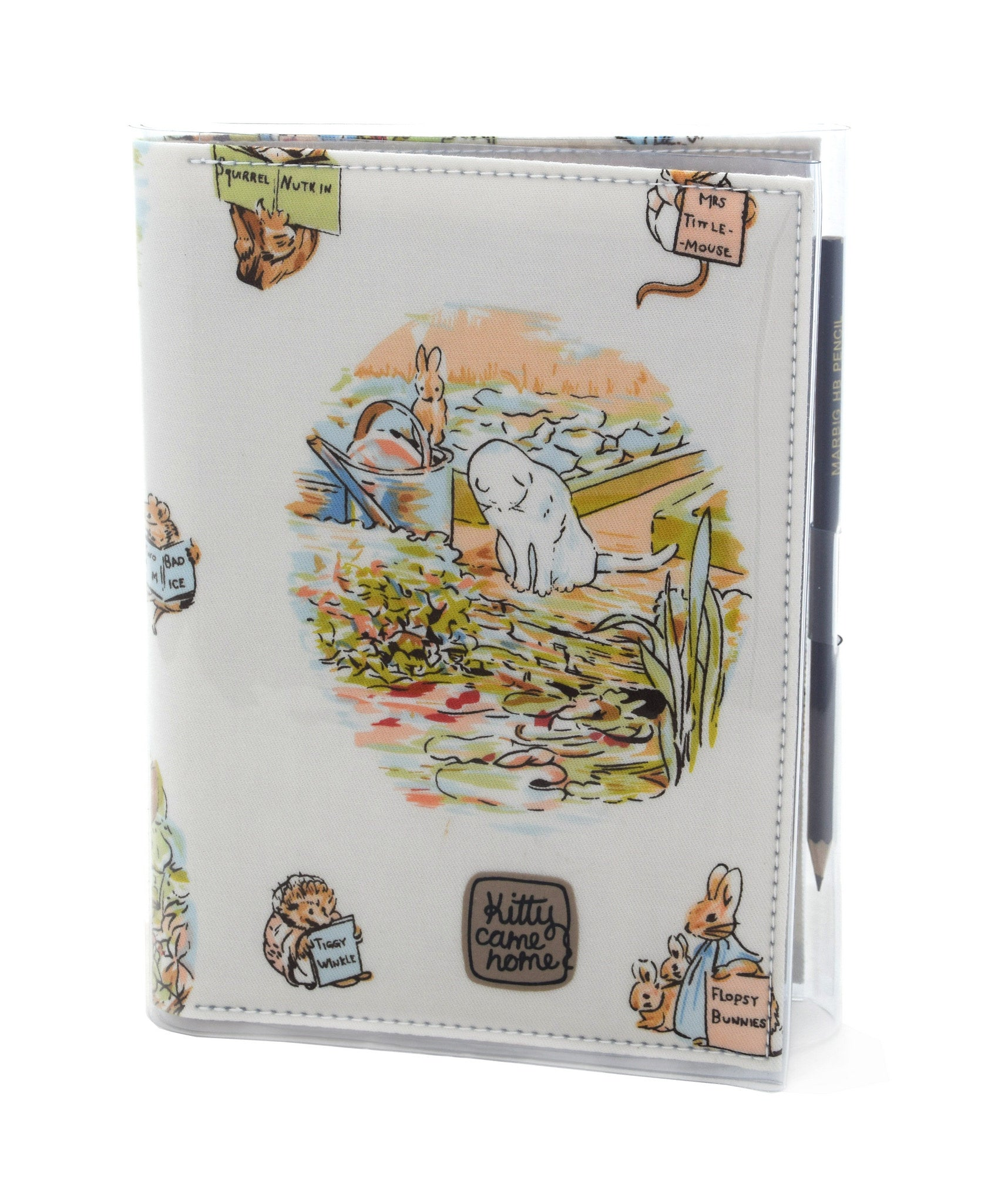 A5 Journal - Mr Mcgregor's cat - Peter Rabbit vintage fabric