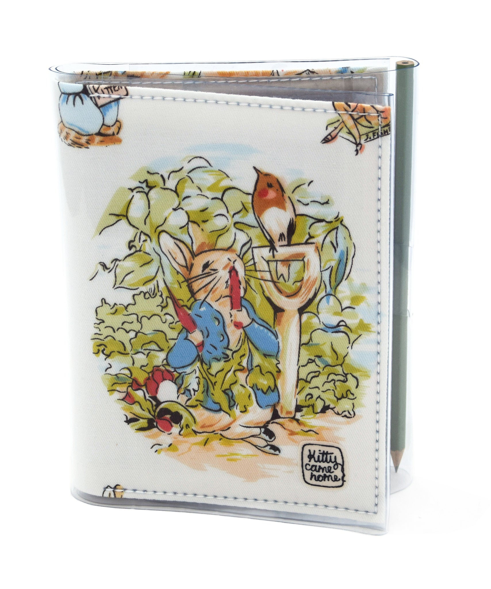 A6 Journal - Peter Rabbit Beatrix Potter vintage fabric - Kitty Came ...