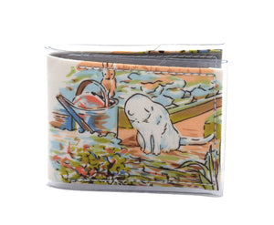 Card Wallet - Mr Mcgregor's cat - Peter Rabbit vintage fabric