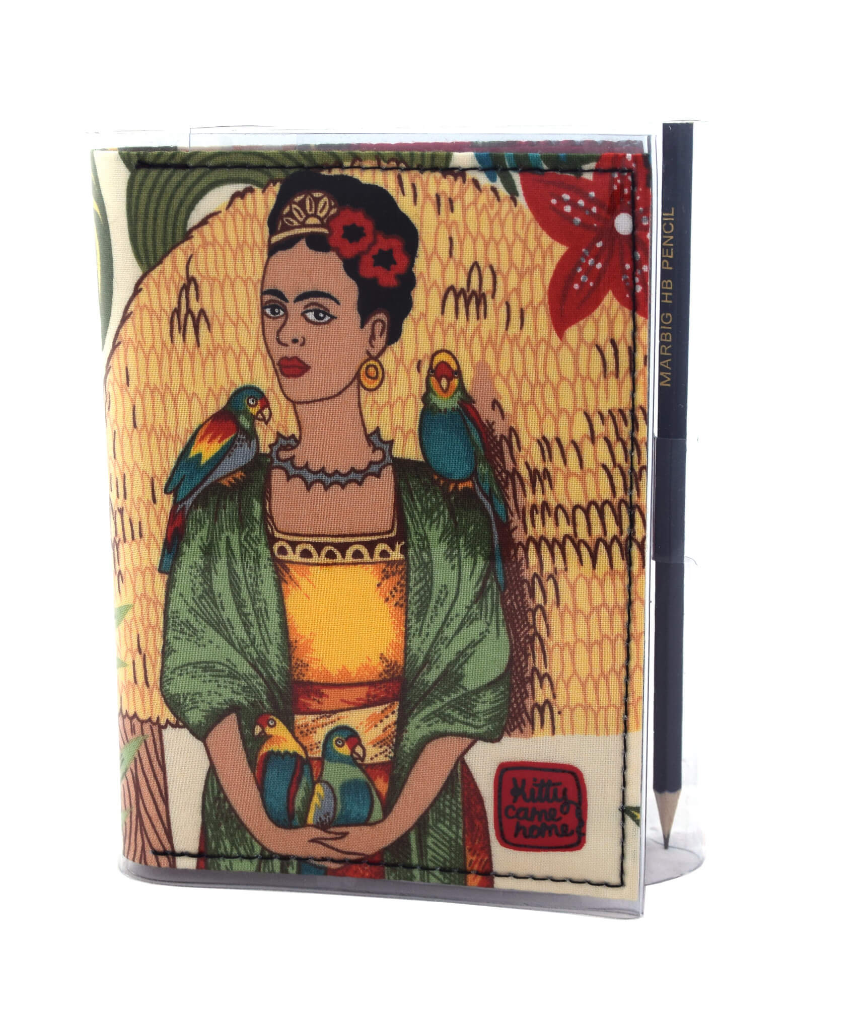A6 Journal - Frida with parrots