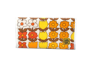 Bi-fold Mini - Fun in the sun flowers - vintage fabric