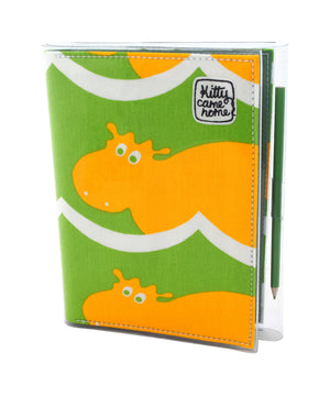 A5 Journal - Hippopotami - Yellow
