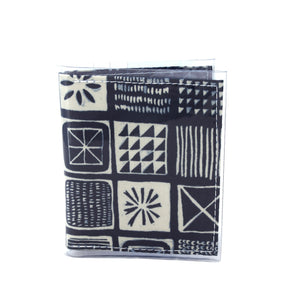 Warrior Wallet - Wood block tile print