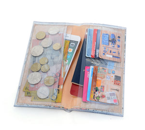 Bi-fold Plus - Rifle Paper Co - Wildwood - metallic gold and navy