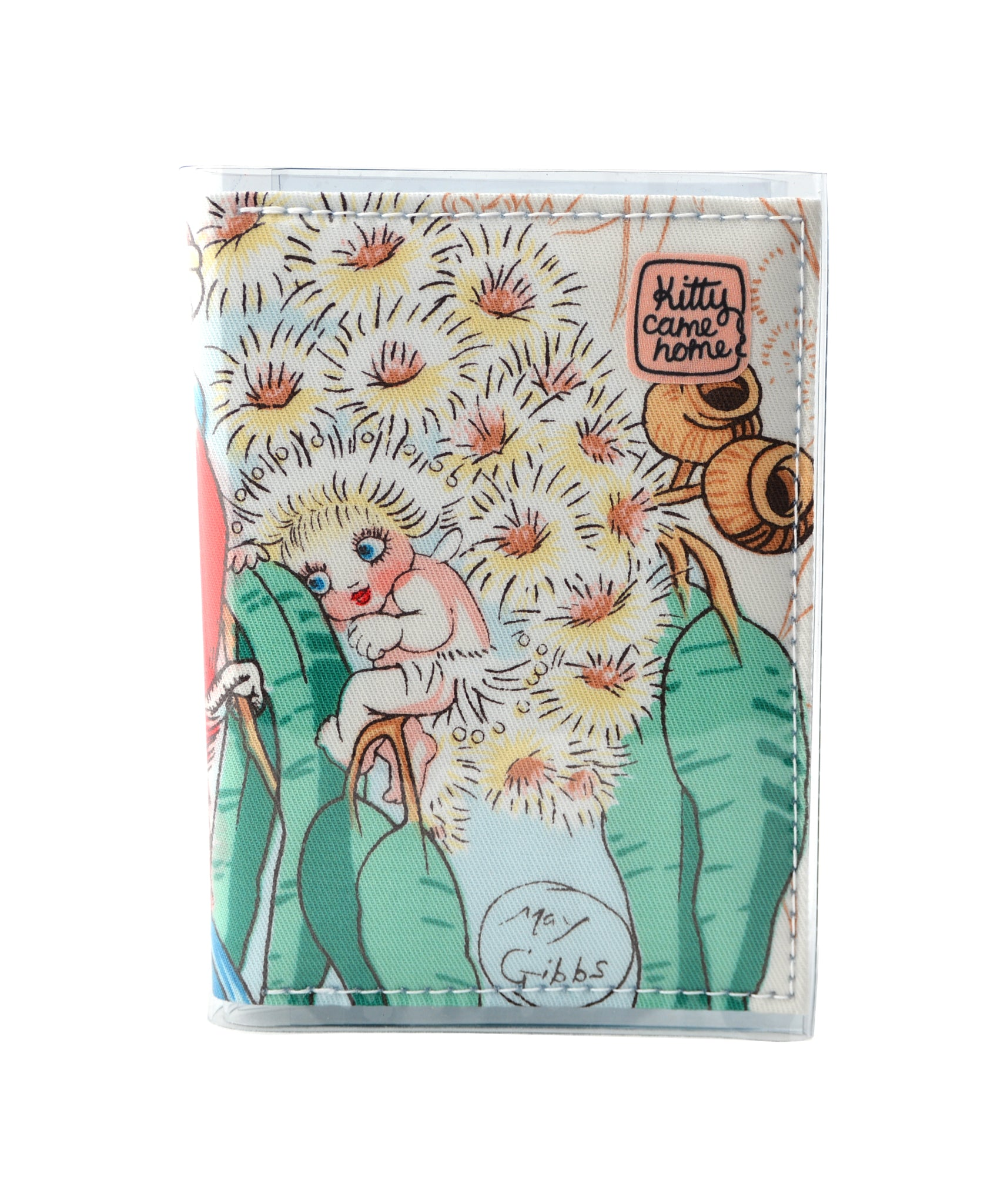 Passport wallet (small) - May Gibbs Wattle Baby vintage fabric