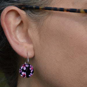 Geraldton Wax Flowers - circle hoop earrings