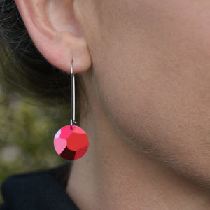 Geraldton Wax Gems - circle drop hook earrings