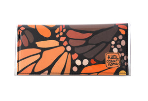 Bi-fold Clutch - Monarch butterfly