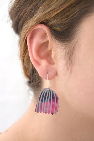 Mabel's Garden - Mabel's bell flower - Birds Nests For Hair - flower shepherds hook earrings