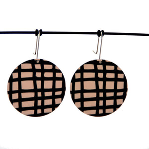 Crosshatch - Birds Nests For Hair - circle shepherds hook earrings