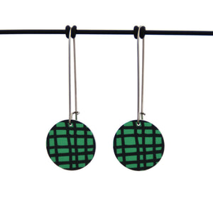 Crosshatch - Birds Nests For Hair - circle drop hook earrings
