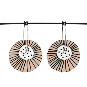 Mabel's Garden - Blush flower - Birds Nests For Hair - flower hoop earrings