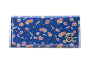 Bi-fold Clutch - Dear Daisy - Royal blue