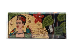 Bi-fold Clutch - Frida with parrots