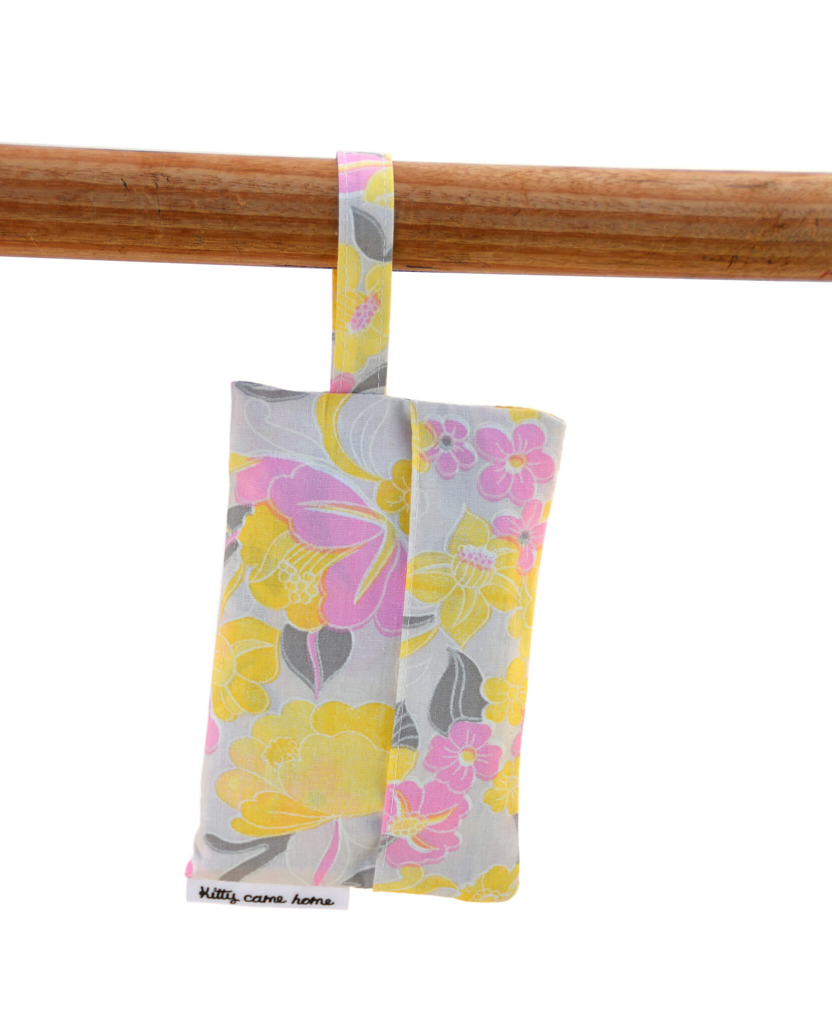 Shopping Bag - Pink and yellow vintage floral