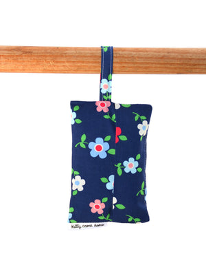 Shopping Bag - Navy blue vintage floral