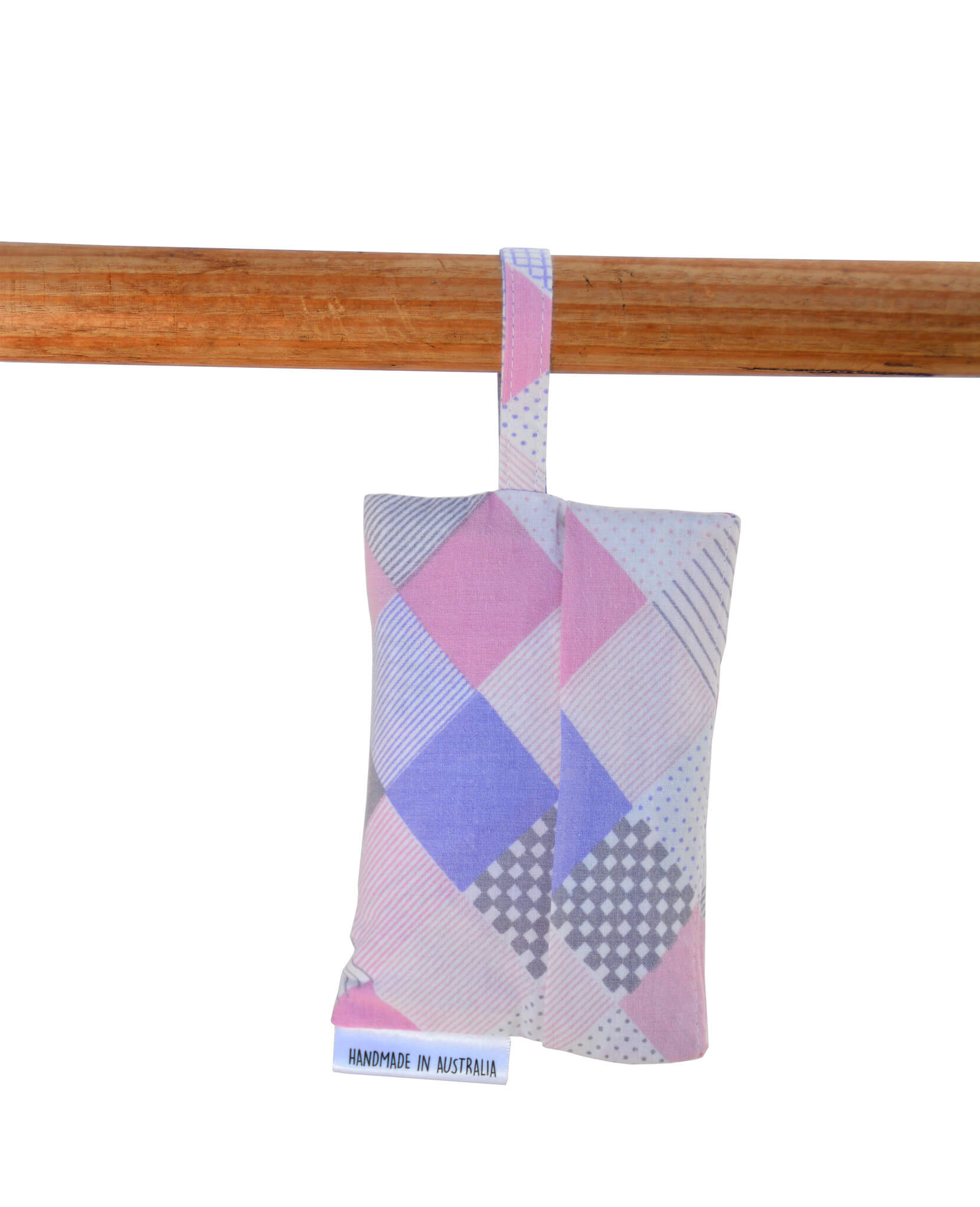 Shopping Bag - Pink and purple tiles vintage fabric