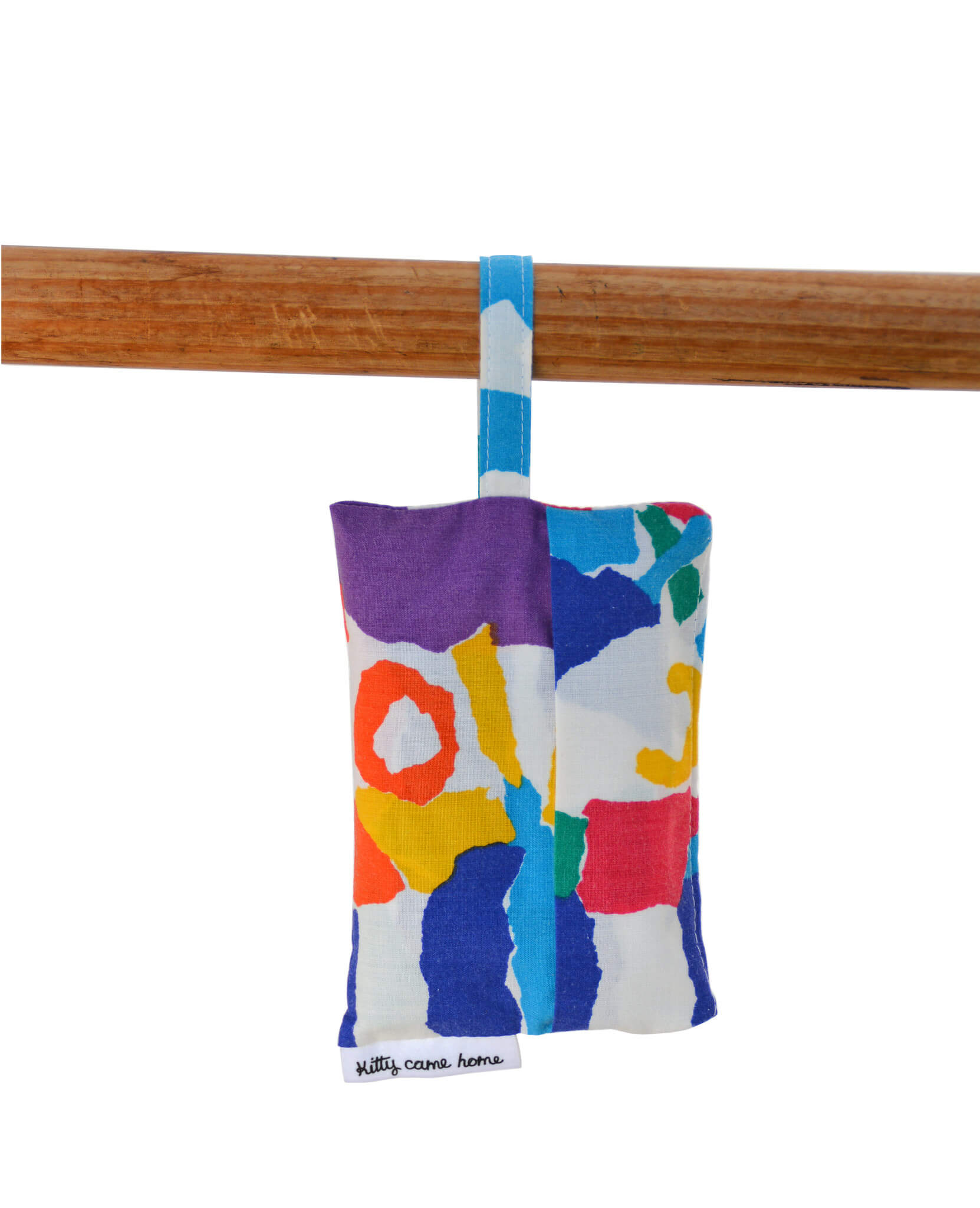 Shopping Bag - Colourful abstract collage vintage fabric