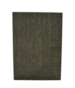 Greeting Card - Herringbone - moss