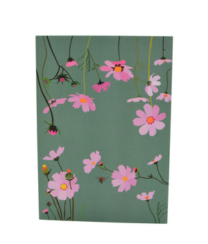 Greeting Card - Cosmos - Sage green