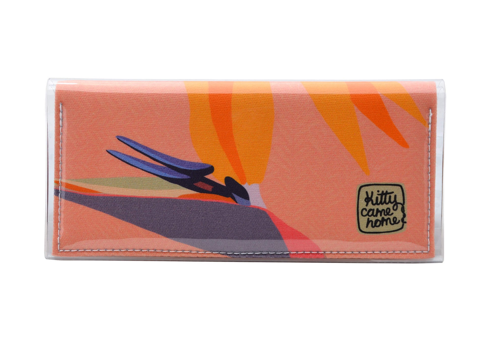 Bi-fold Clutch - bird of paradise