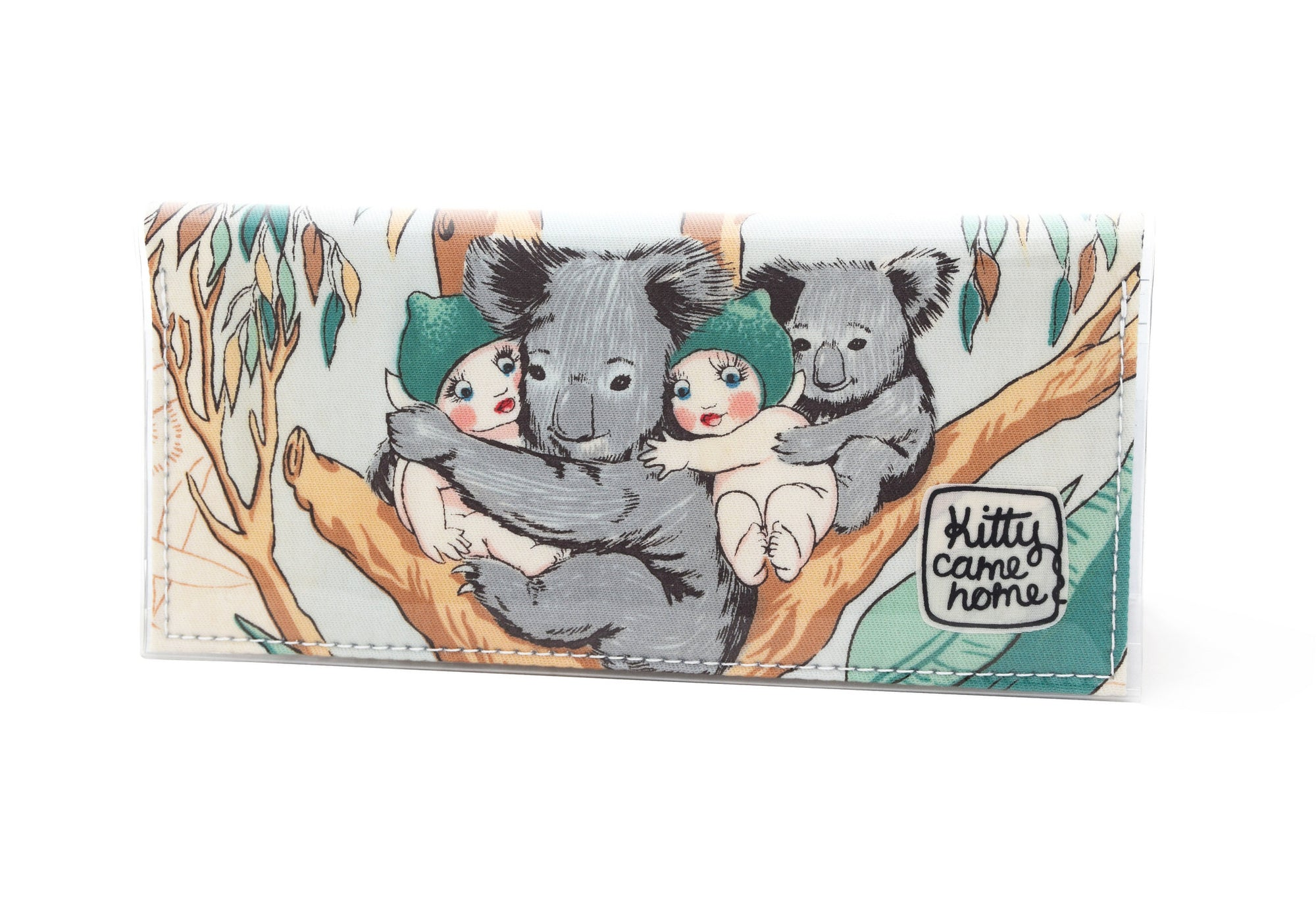 Bi-fold Clutch - May Gibbs gumnut and koala cuddles