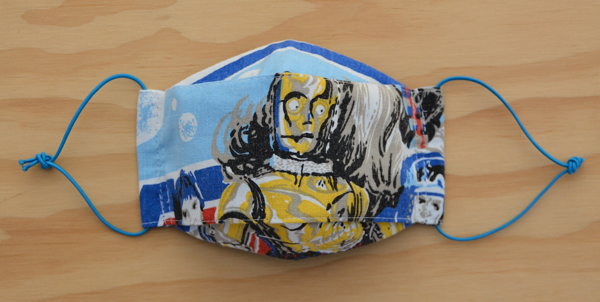 Face Mask - C3PO - Star Wars vintage fabric