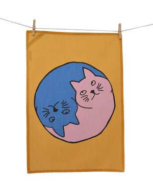 Tea Towel - Yin Yang Cats