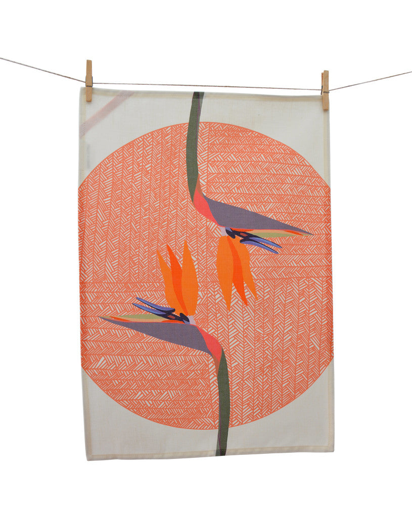Tea Towel - Bird of paradise
