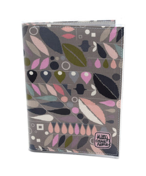 A5 Journal - Smokey pink geometric leaf fabric
