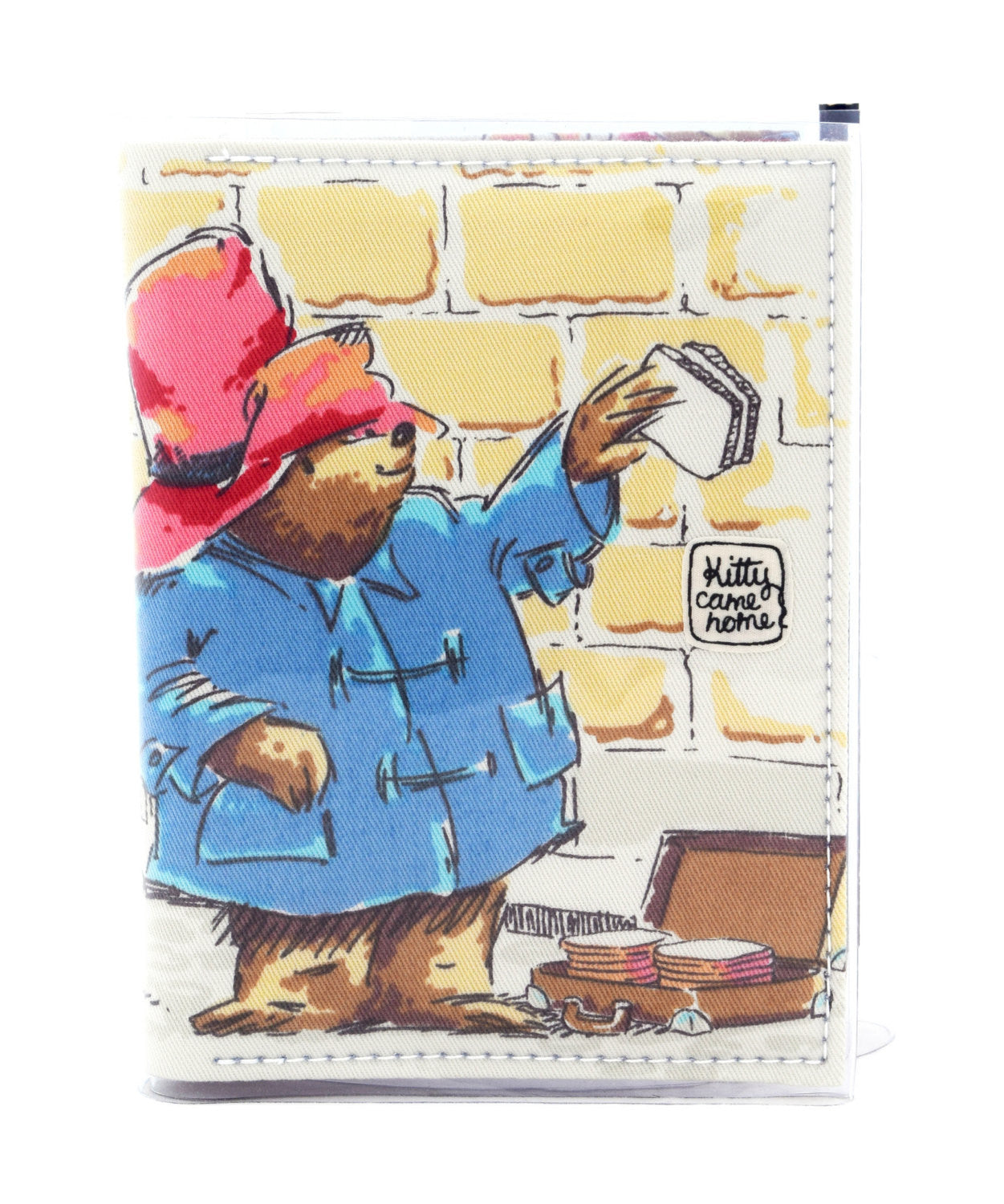 A6 Journal - Paddington Bear - packed lunch - vintage fabric