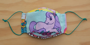 Face Mask - My little pony 2 - vintage fabric