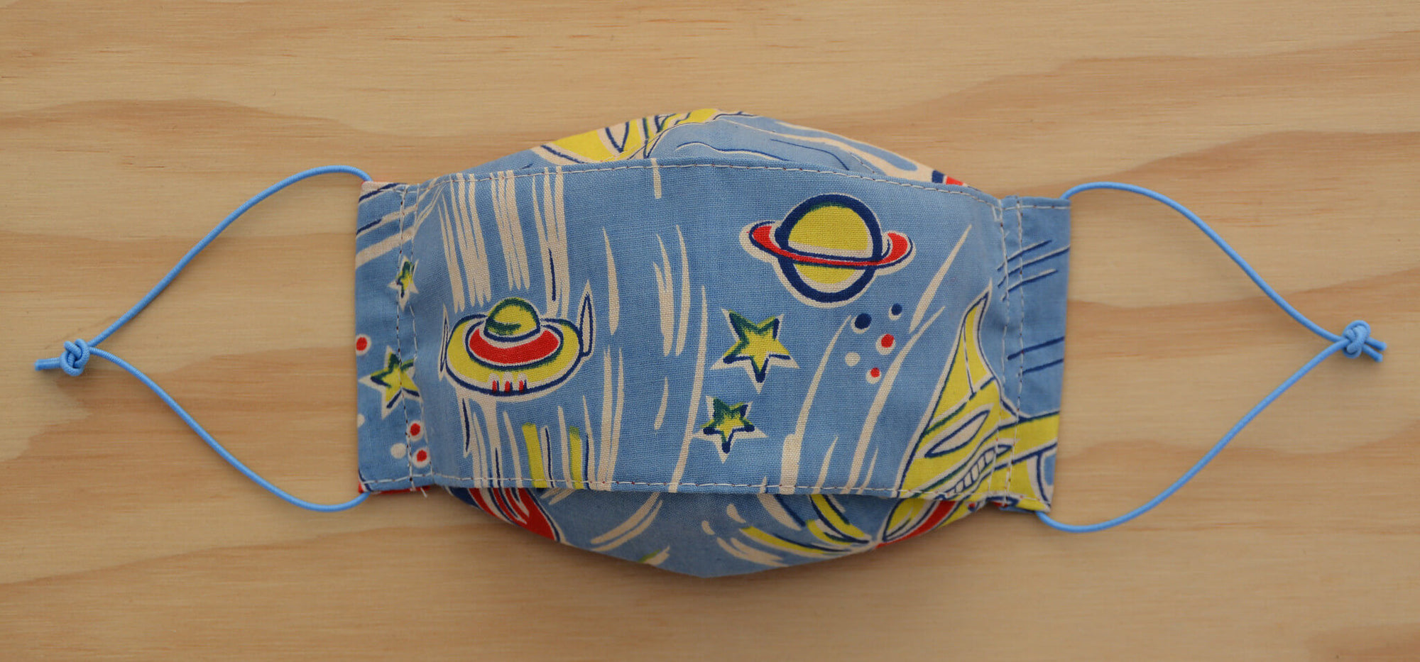 Face Mask - 50s Outer Space vintage fabric