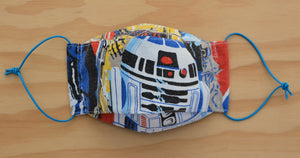 Face Mask - R2D2 - Star Wars vintage fabric